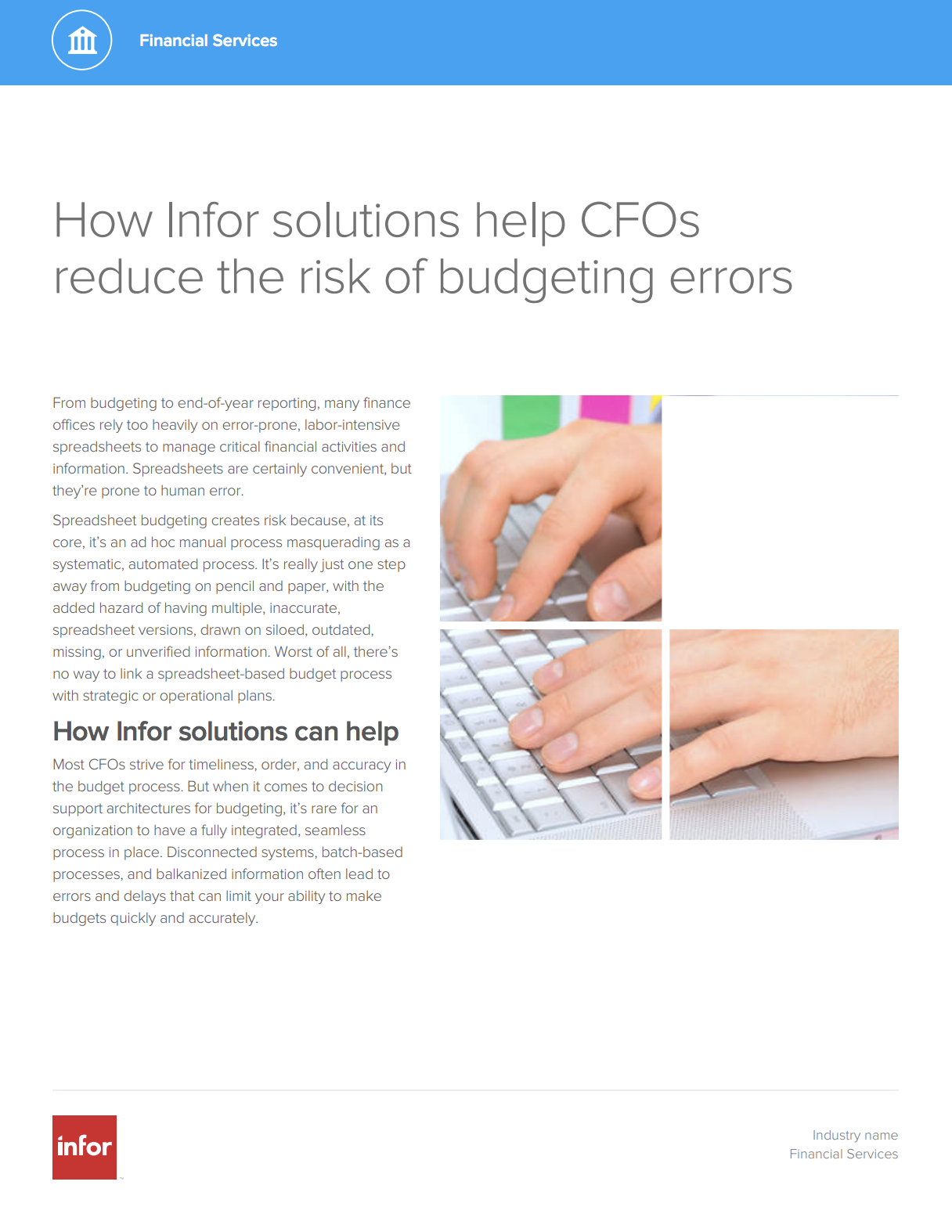 how infor solutions can help cfos reduce the risk of budgeting